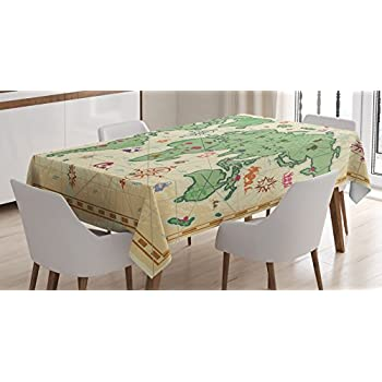 amazon com tuscan decor tablecloth by ambesonne various pictures