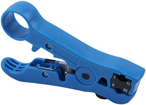 YOOBANG 同軸ケーブルストリッパー 同軸ケーブル 外皮剥き工具 ワイヤーストリッパー ケーブルカッター ボルトクリッパ ペンチ 電気工事 多機能 軽量 一件入れ (青色)