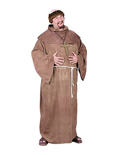 [Medieval Monk Adult Plus size Costume] (Medieval Queen Plus Size Costumes)