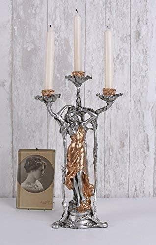 Kerzenleuchter Engel Gothic Frauenfigur Schädel Kerzenhalter Leuchter Fantasy