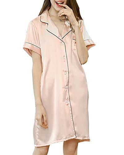 Maniche Pigiama Biancheria lungo Sleepwear Camicia Tutte Pigiama le DaiHan E Stagioni corta per delle Notte Stile da Donna donne a 5tnxqC