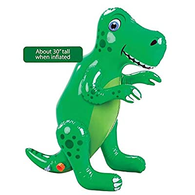 Etna Inflatable Dinosaur Sprinkler, Fun Outdoor T-Rex Water Toy and Lawn Accent: Toys & Games