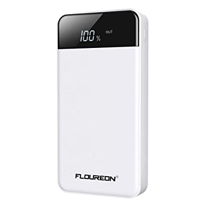 FLOUREON USB-C Power Delivery Power Bank 26800mAh 60W PD Portable Charger (White)