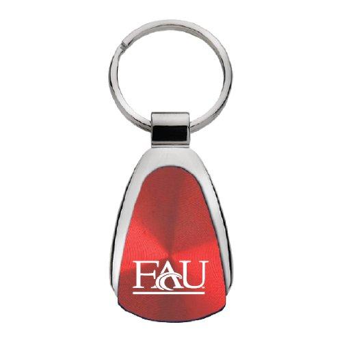 Fau Owls (Florida Atlantic University - Teardrop Keychain - Red)
