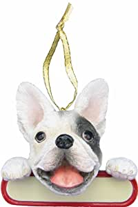 """French Bulldog Ornament """"Santa's Pals"""" With Personalized Name Plate A Great Gift For French Bulldog Lovers"""
