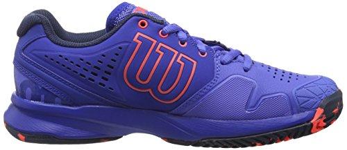 Wilson Kaos Comp, Chaussures de Tennis Femme, Bleu (Amparo Blue/Surf the Web/Fiery Cora), 36 1/3 EU