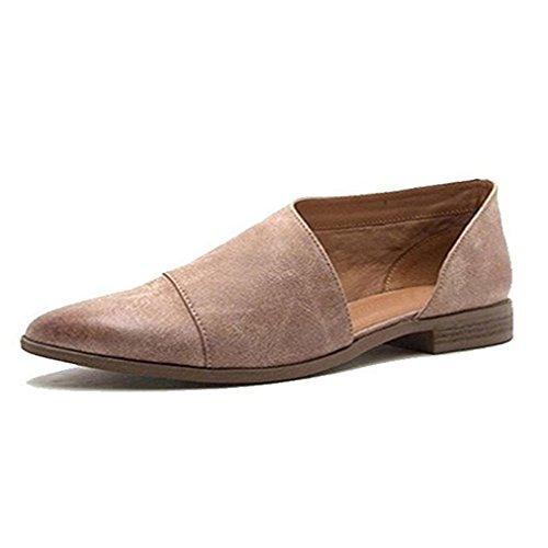 Damen Sandalen Ronamick Frauen Damen Frühling Mode Lässig Spitz Flache Schuhe Nude Schuhe Keilabsatz Sandaletten Pantoletten Grau