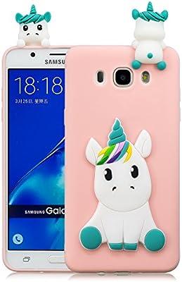 Leton Funda Samsung Galaxy j5 2016 Silicona Unicornio 3D Suave Flexible TPU Carcasa Galaxy j510 Ultra Delgado Mate Gel Tapa Antigolpes Goma Cubierta ...