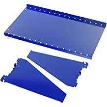 "Wall Control ASM-SH-1609 BU 9"" Deep Pegboard Shelf Assembly for Wall Control Pegboard Only, Blue"