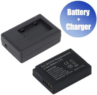 BattPit trade; New Digital Camera Battery 1000 mAh Charger Replacement for Panasonic Lumix DMC-ZR1R