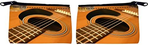 Rikki Knight Guitar Macro Close-Up Design Scuba Foam Coin Purse