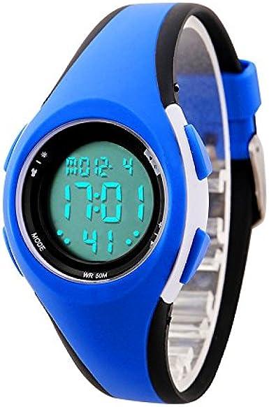 ETOWS® Relojes de los Niños Flash Luces 50M Impermeable Cronógrafo Digital Niños Niñas Reloj Deportivo