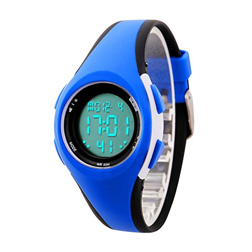 etows Impermeable Luces relojes Flash 50 m cronógrafo Digital niños niñas reloj de pulsera deportivo: Amazon.es: Relojes