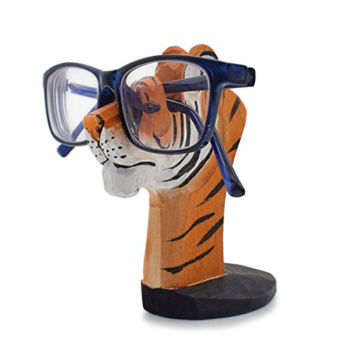 - VIPbuy Handmade Wood Carving Eyeglasses Spectacle Holder Stand Sunglasses Display Rack Home Office Desk Décor Gift (Tiger)