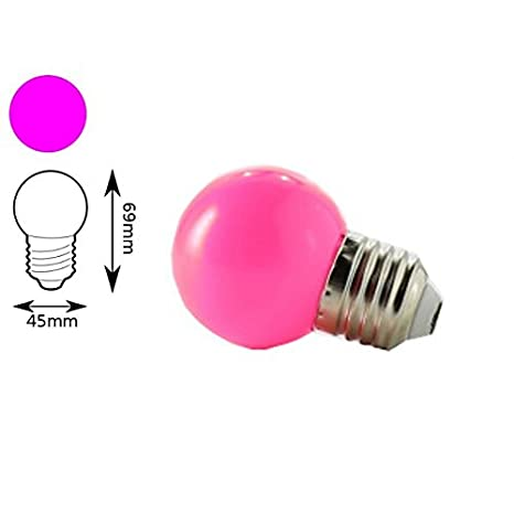Jandei - Bombilla LED color Rosa E27 1W interior decorativa: Amazon.es: Iluminación