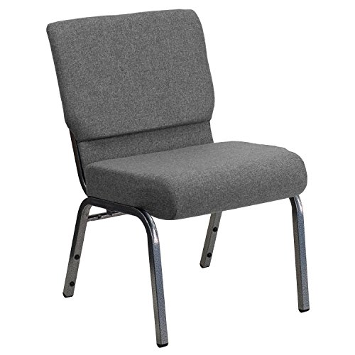 Hercules Church Chair (Flash Furniture Hercules Series Gray Fabric Stacking Church Chair, 21