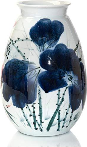 John Richard Vase White Glazed Oxblood Blue Black Porcelain Polished Nic