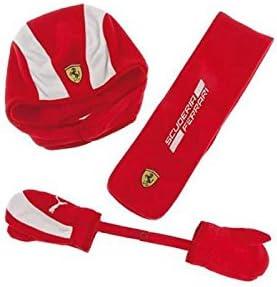 Ferrari enfant Ensemble bonnet /écharpe et Gants