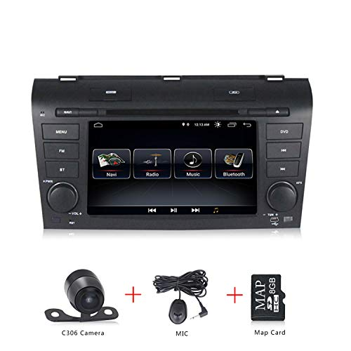 (Android 8.1 Car CD DVD Player 7 inch Touch Screen GPS Navigation for Mazda 3 2004-2009 WiFi 3G Double Din in Dash Stereo Radio )