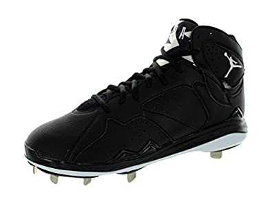 Nike Men\u0027s Air Jordan 7 Retro Metal Black/White Baseball Cleat Men