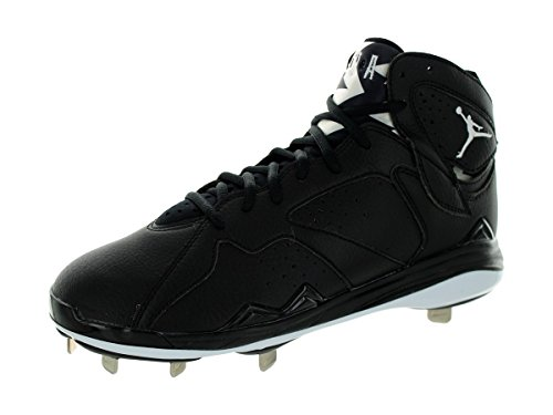 Nike Men's Air Jordan 7 Retro Metal Black/White Baseball Cle