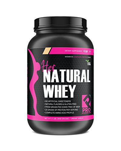 Protein Powder for Women - Her Natural Whey Protein Powder for Weight Loss & to Support Lean Muscle Mass - Low Carb - Gluten Free - rBGH Hormone Free - Sweetened w/Stevia (Creamy Vanilla, 2 lb)