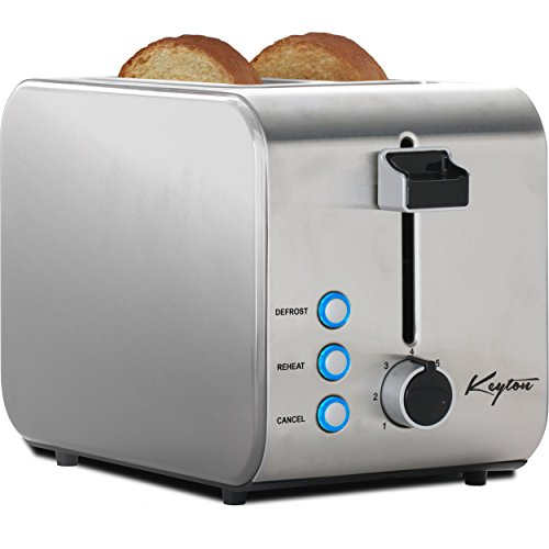 Keyton 2 Slice Toaster with Crumb Tray, Stainless Steel