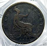 Very Good 1884 British Half Penny