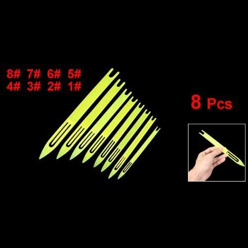 (Repair Needles - 8 Pcs Yellow Plastic Fishing Line Repair Netting Needle Shuttles - Needles RepairNeedles Nylon Thread Bobbin Fish Tool Mesh Fabric Tambour Embroidery Crochet Line Frame)