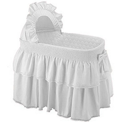 BabyDoll Paradise Rainbow Bassinet Set, White baby doll bedding 2470bas-white