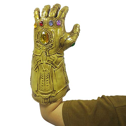 Gauntlets Latex - ZhaoXin Games Toy Latex Gold Thanos Gauntlet Gloves Cosplay Props