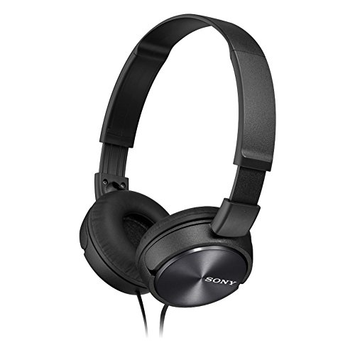 Sony MDR-ZX310-BLACK Wired Headphones with Lightweight Adjustable Headband and Swivel Earcups