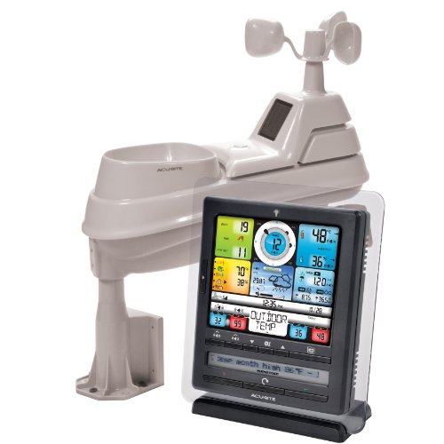 AcuRite 01036 Pro Weather Station with PC Connect, 5-in-1 Weather Sensor and My AcuRite Remote Monitoring App - Acu Rite Outdoor Lcd Window