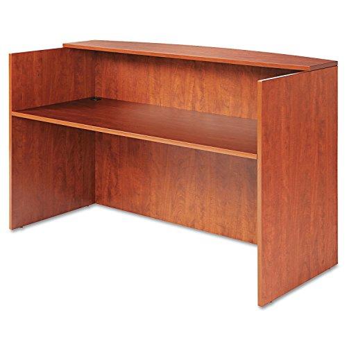 Alera ALE Valencia Series Reception Desk w/Counter, 71w x 35 1/2d x 42 1/2h, Cherry