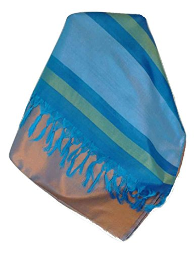 Varanasi Border 100% Foulard de Soie Dasgupta 510 Gamme Heritage par Pashmina & Silk
