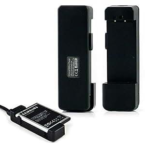 Ociodual Cargador de bateria Externo Micro USB para Samsung Galaxy S2 S3 S4 S5 Note 2 3