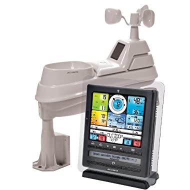 AcuRite 01036 Pro Weather Station with PC Connect, 5-in-1 Weather Sensor and My AcuRite Remote Monitoring App