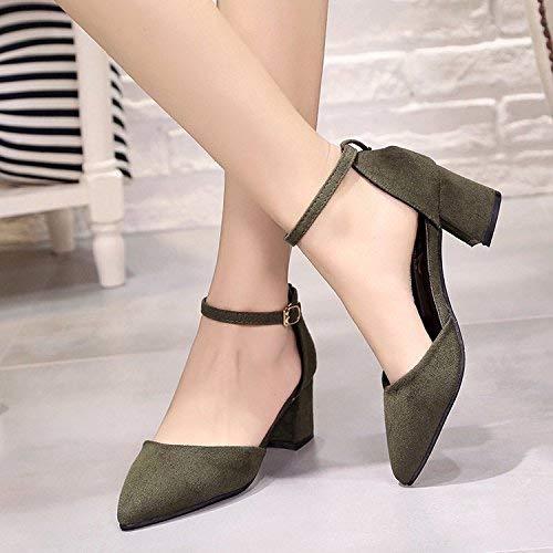 Willsego Willsego Willsego Fett und geschlitzt ist der Clip mit einzelnen Schuhen Frauen mit den dünnen 5cm-Absatzschuhen Baotou Sandals (Farbe   36, Größe   The Gold) 46eae2