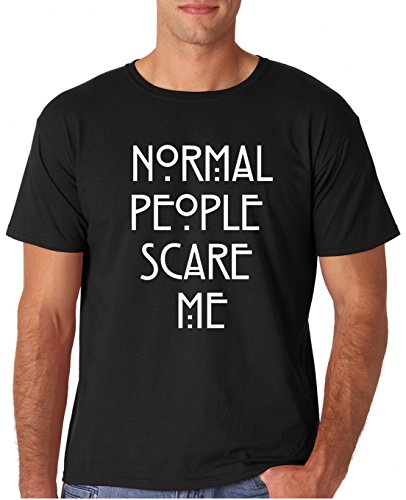 People Person Adult T-shirt (Adult Normal People Scare Me T Shirt Large Black)