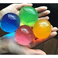J&J Confezione 30 Pezzi Grandi Colori Misti Differenti Perline di Acqua Gel Perle di Acqua Cristallo Gel Terreno Gelatina Perline Vaso per Decorazione Matrimonio Natale Giardino Cucina Soggiorno