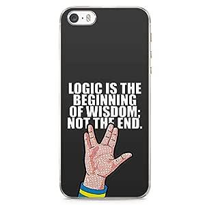 Loud Universe Star Trek Spock iPhone SE Case Star Trek Quote Logic iPhone SE Cover with Transparent Edges