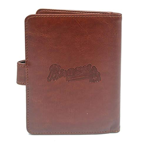 - MLB Brown Passport Holder Case with RFID Blocking for Women & Men - Atlanta Braves