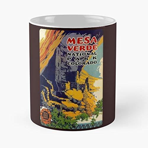 Mesa Verde National Park Colorado Usa - Ceramic Novelty Mugs 11 Oz, Funny Gift