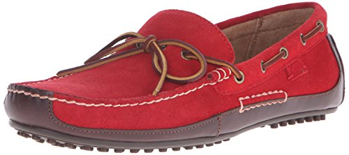 Polo Ralph Lauren Men's Wyndings Leather, Tan/Real Red, 10.5 D US