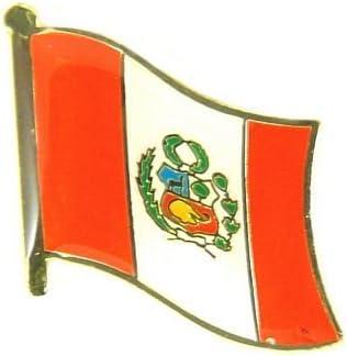 Banderas Pin Bandera Perú Pins nuevo broche (: Amazon.es: Deportes y aire libre