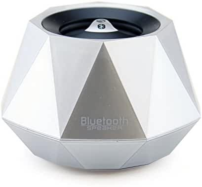 LB1 High Performance New Wireless Bluetooth Mini Speaker for Microsoft Surface Pro 2 Diamond Bluetooth Speaker with Built-in Microphone for Hands-Free Phone Call (Silver)