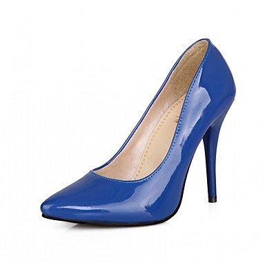 RUGAI-UE Moda de Verano Mujer sandalias casuales zapatos de tacones PU Confort caminar al aire libre,rubor rosa,US8 / UE39 / UK6 / CN39 Blue