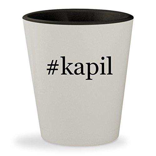 #kapil - Hashtag White Outer & Black Inner Ceramic 1.5oz Shot - Raj Ban