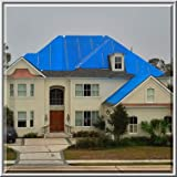 40ft X 50ft Light Duty Utility Blue Tarp - 6 Mil Water Proof
