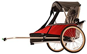 Wike Moonlite Bicycle Trailer - Red/Gray